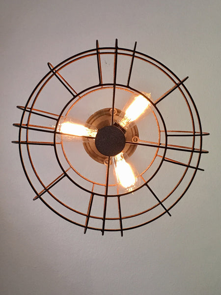 Industrial Metal Fan Light Out Of The Woodwork Designs