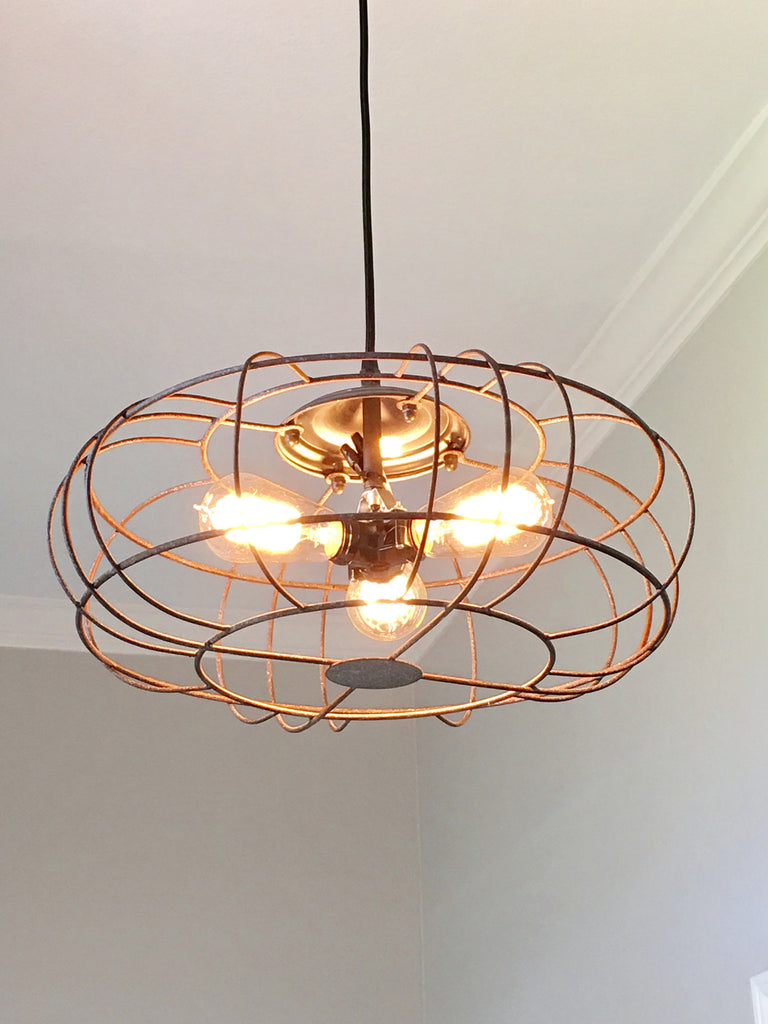 Industrial Metal Fan Light - Out of the Woodwork Designs