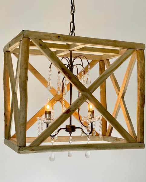 Danielle 2 Light Chandelier - Out of the Woodwork Designs