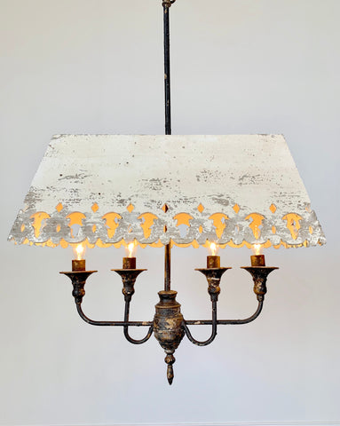 Celia Wood Shade Scroll Fixture - Out of the Woodwork Designs