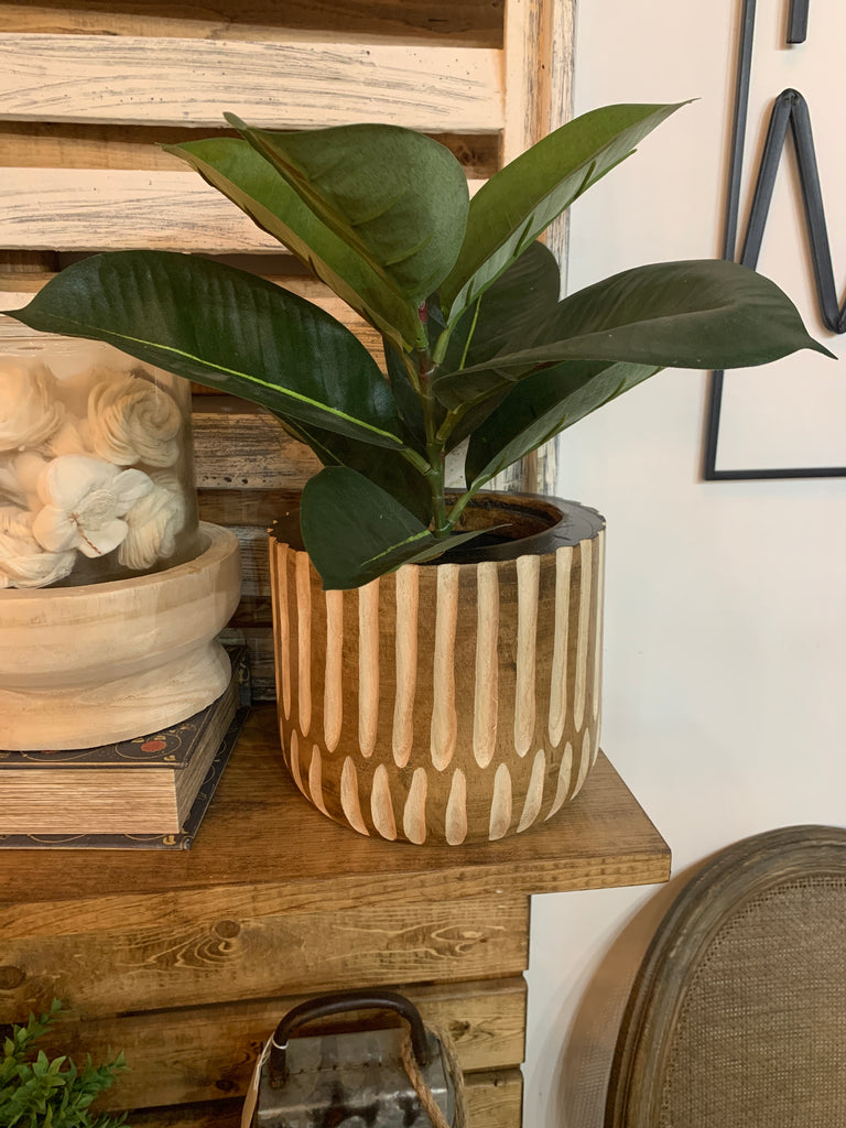 Carved Stripe Planter