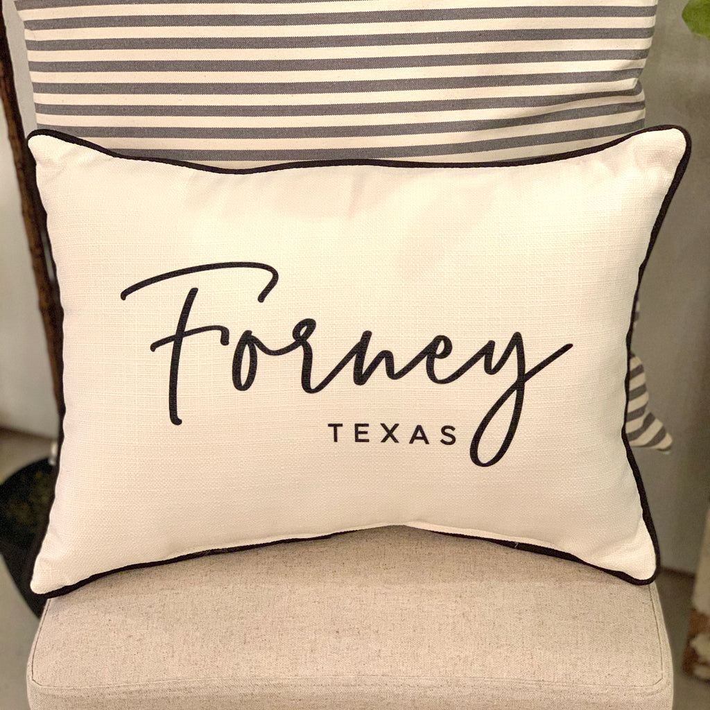 City & State Pillow