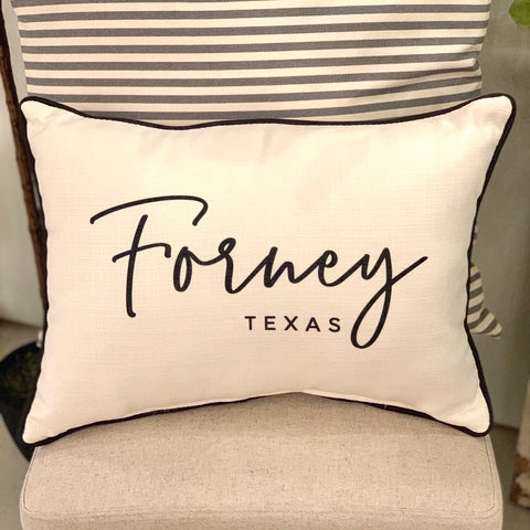 Forney, Texas Pillow
