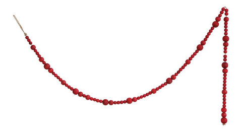 Wood Bead Garland- Red