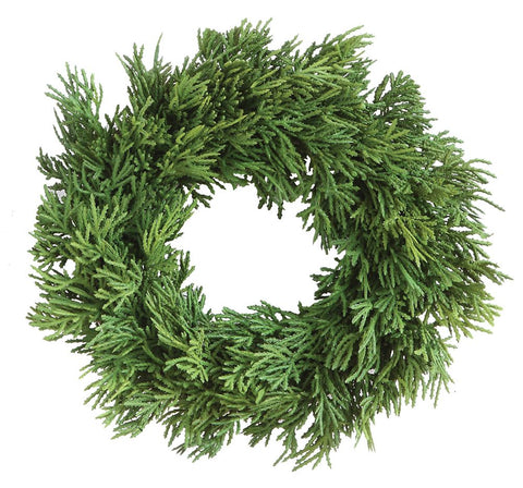 Artificial Cedar Wreath - Out of the Woodwork Designs