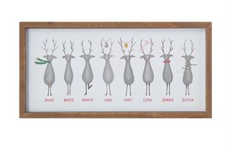 Santa's Reindeer Wall Decor