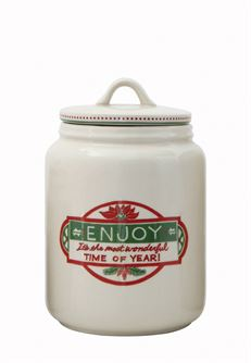 Enjoy Christmas Canister - Out of the Woodwork Designs