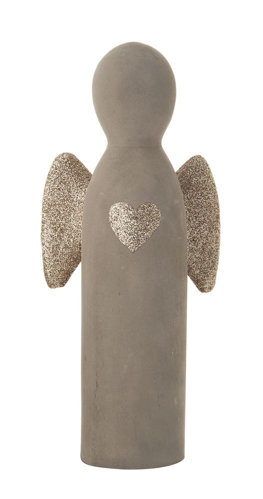 Cement Standing Angel- Tall - Out of the Woodwork Designs