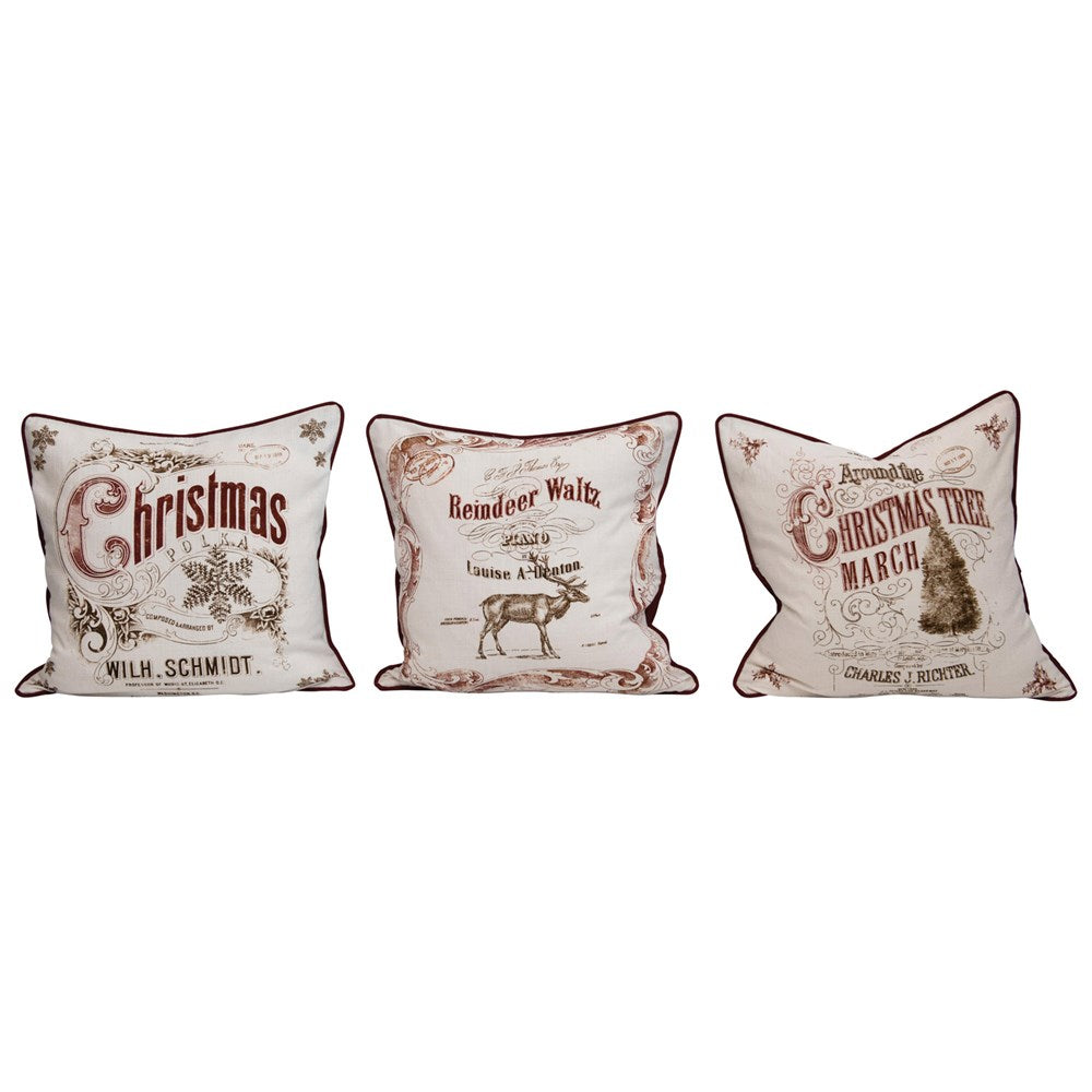 Vintage Christmas Pillows 3 Styles
