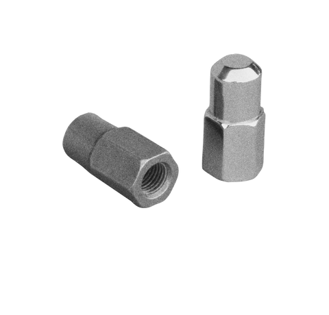 Spindle Stop Nuts (chrome) (pair)