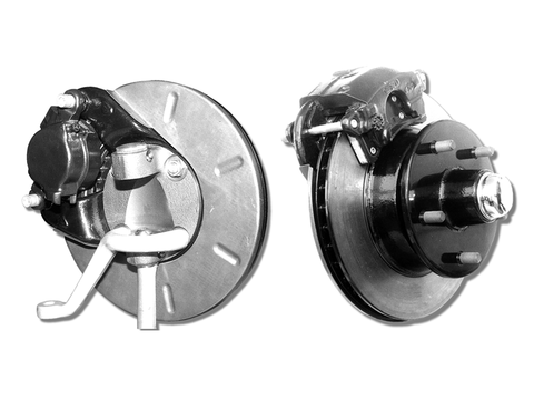 Power Stopper Front Disc Brakes (Ford passenger spindle) (5x4 3/4 Chevy small bolt pattern)
