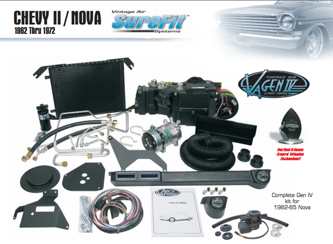 Complete GEN-IV Sure-Fit 1968 Nova Complete Kit (factory air)