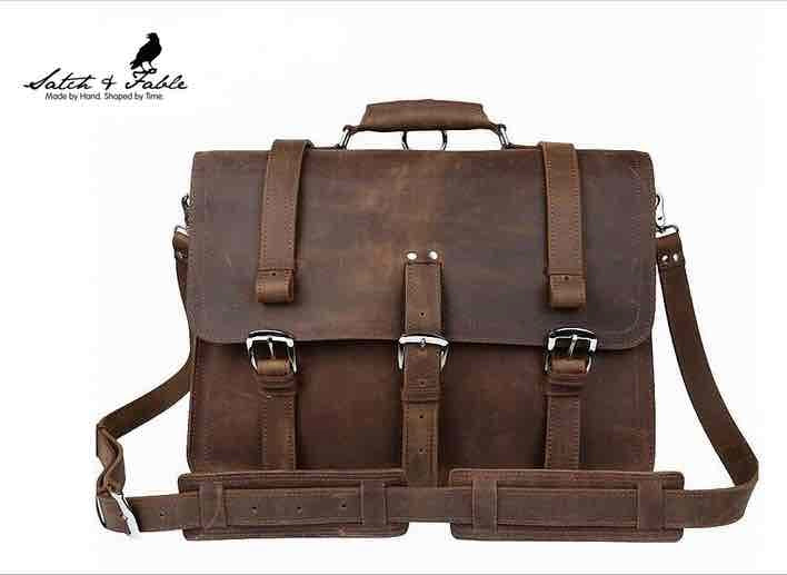 Introducing a new line of sturdy handmade crazy horse leather laptop bags.