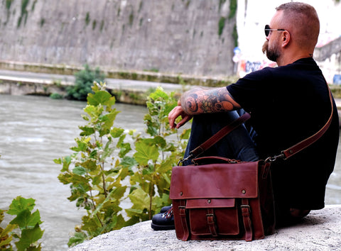 handmade leather briefcase satchel by Satch&Fable
