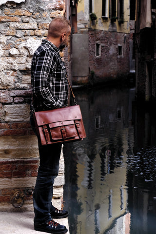 handmade leather satchel briefcase by Satch&Fable