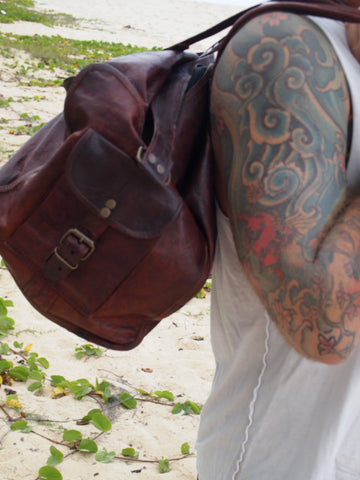 Handmade duffel Gym Bag by Satch&Fable