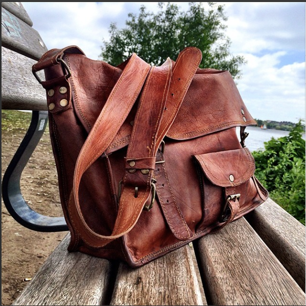 Handmade Moroccan Leather  Briefcase by Satch&Fable