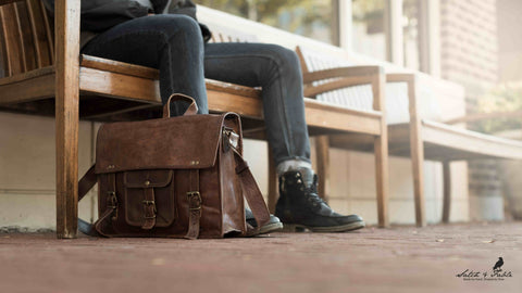 Handmade Leather Laptop satchel