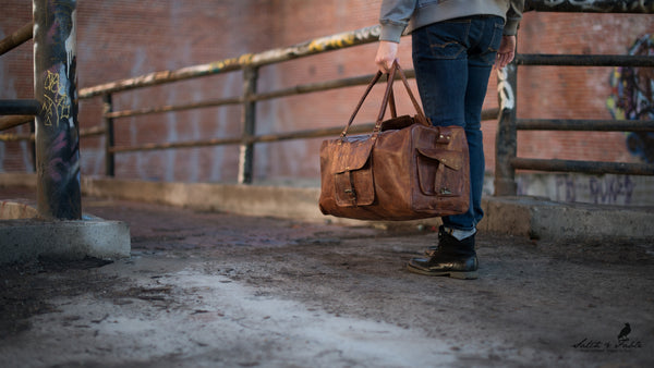 Handmade leather duffel bag Satch&Fable