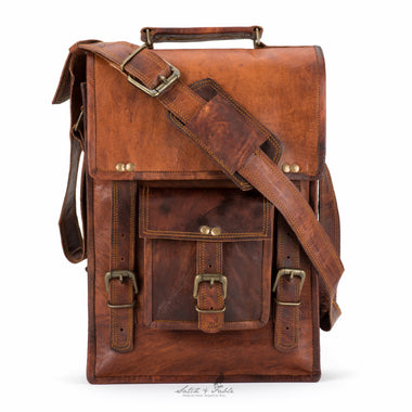 35e6d48ea2c8 Handmade Moroccan Leather North-South Laptop Briefcase - Satch   Fable