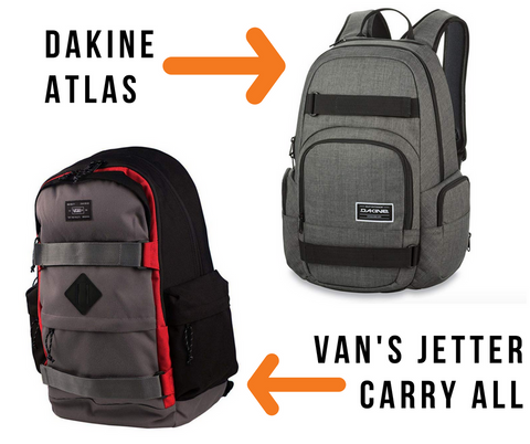 You can t go to school without a way to carry your books AND your board!  Two of our very favorite brands have killer backpacks that will not only  tote your ... b584cd0d8b2af
