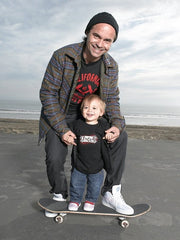 Father Son Skateboarding