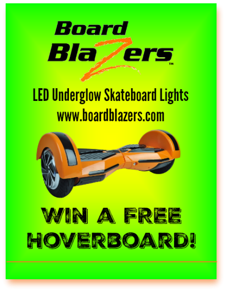 Hoverboard Sweepstakes banner