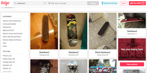 letgo for cheap used skateboards