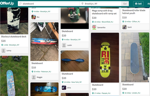 OfferUp skateboard for cheap online