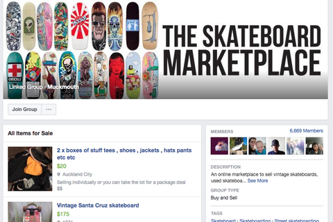 The Skateboard Marketplace Facebook cheap secondhand skateboards