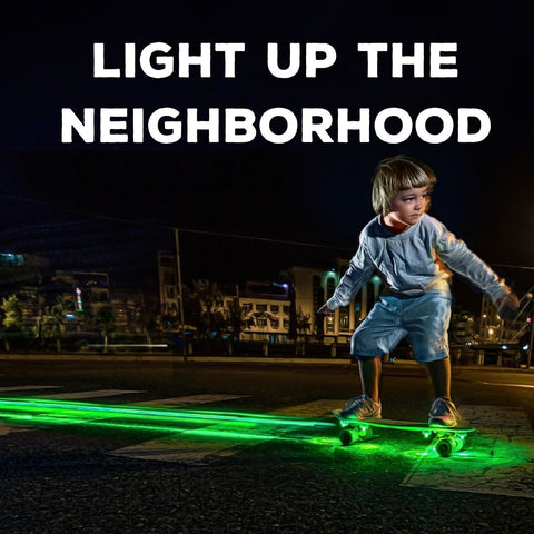 skateboard lights for night