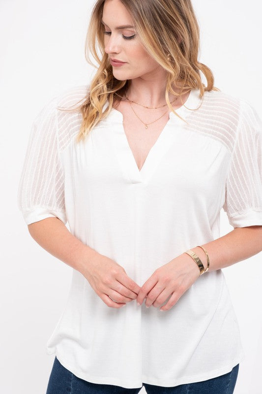 Summerlin V-Neck Knit Top - Plus Size - 2 Colors Available