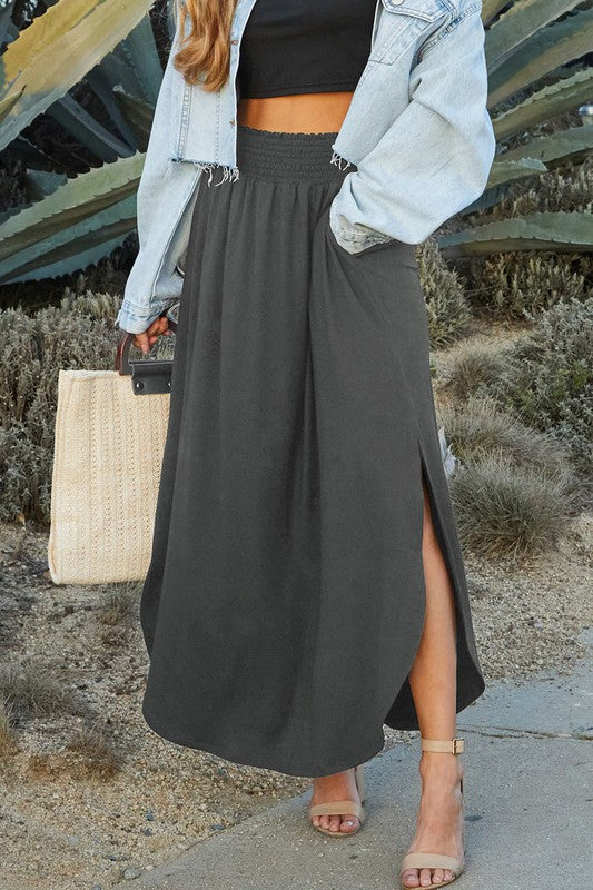 Maxi Skirt with Side Pocket