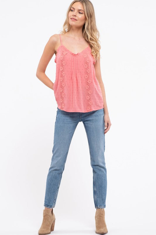 Ruffled Neckline Cami - 2 Colors Available