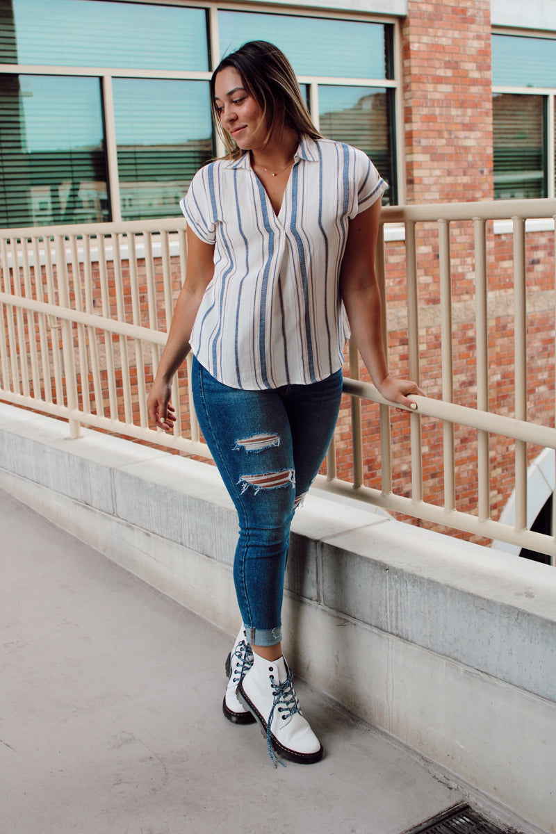 Eleanor Striped Top