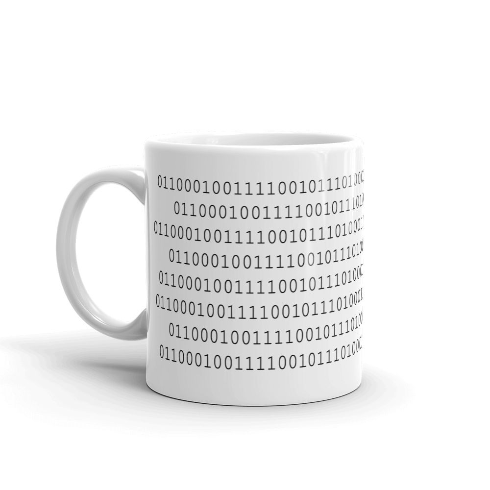 binary code byte me mug