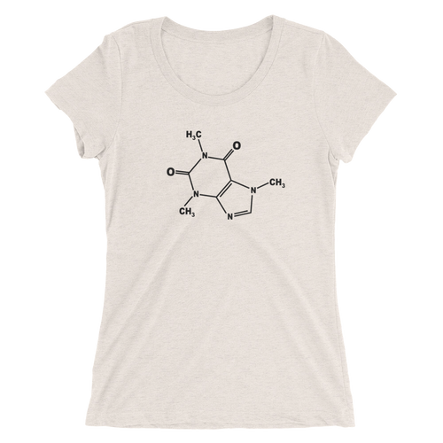 Caffeine Molecule T-Shirt - Women's Slim Fit