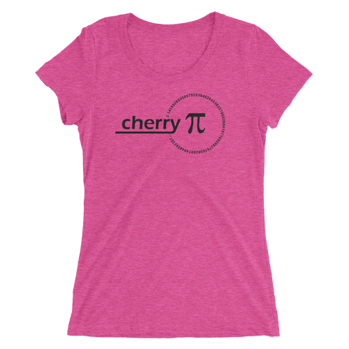 Cherry Pi T-Shirt - Women's Slim Fit