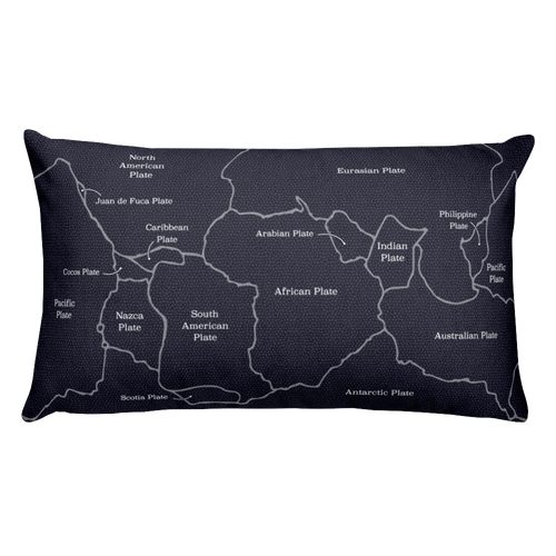 Tectonic Plates Pillow