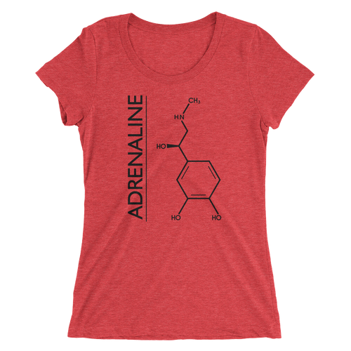 Adrenaline Molecule T-Shirt - Women's Slim Fit