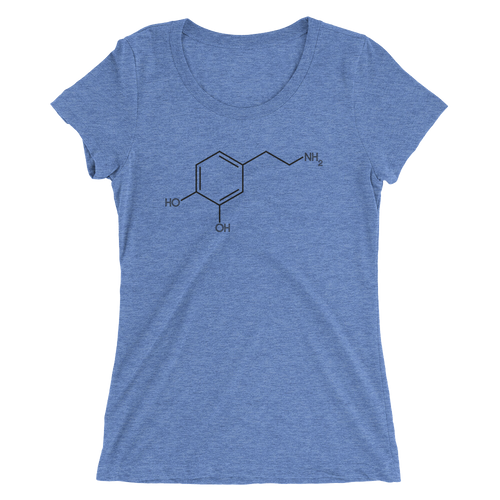 Dopamine Molecule T-Shirt - Women's Slim Fit