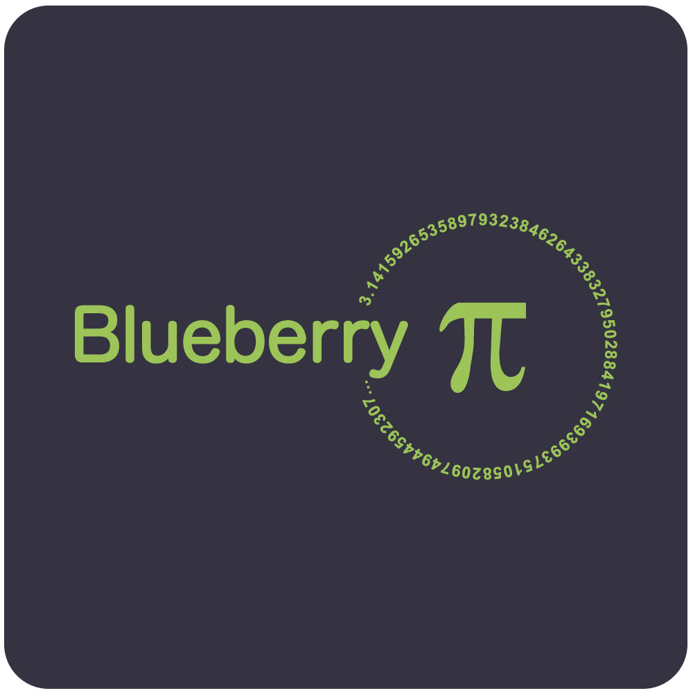 blueberry pi t shirt close-up