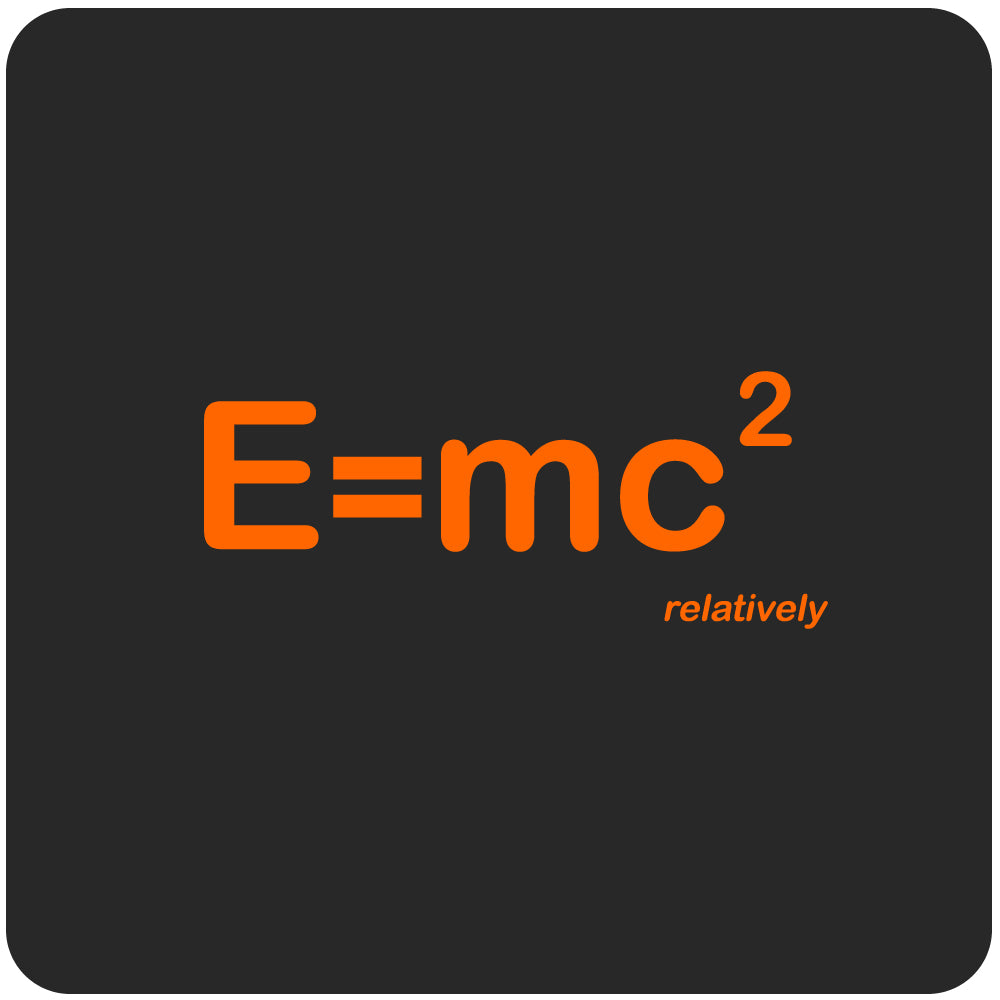 E=MC2 T-Shirt, Black