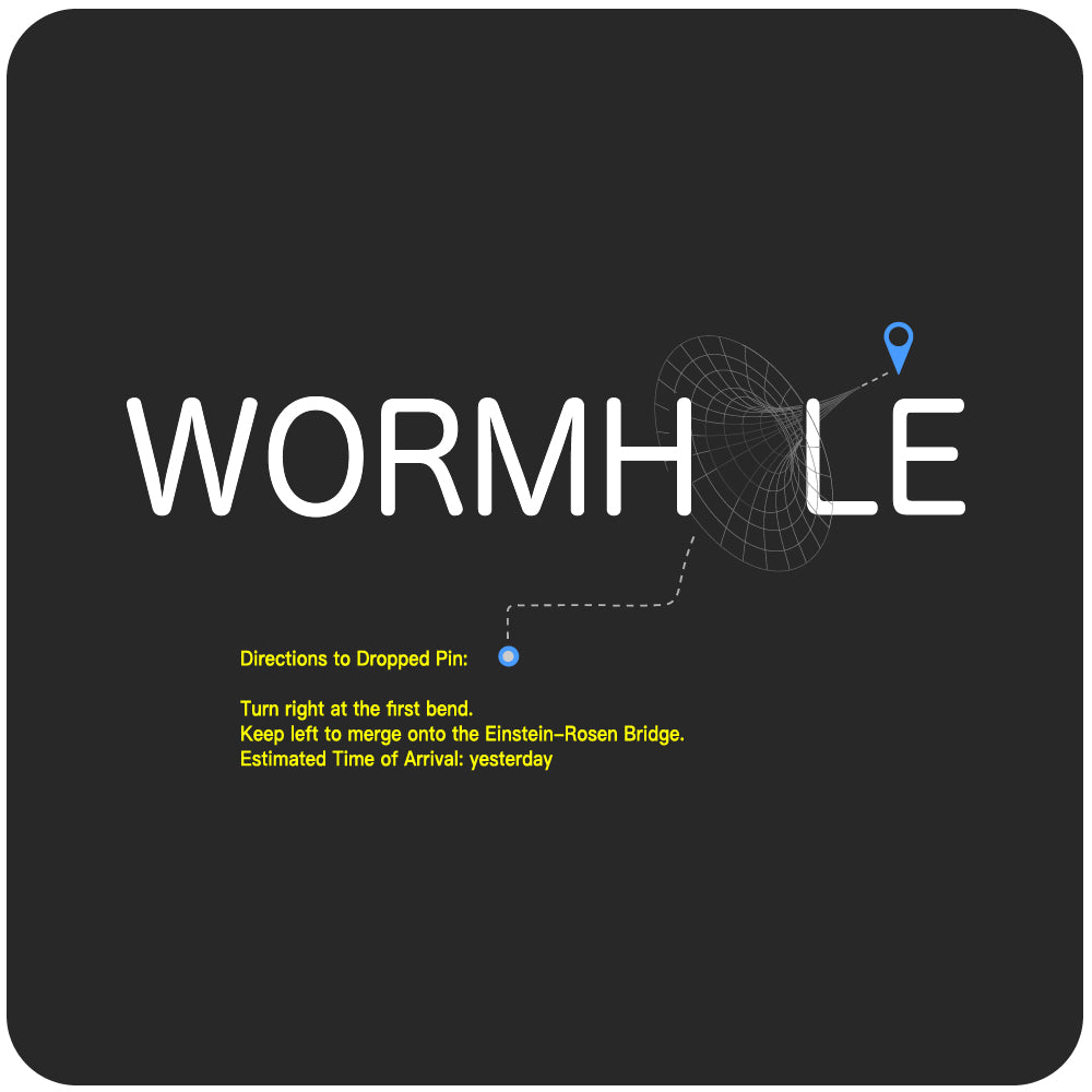 Wormhole T-Shirt: directions to dropped pin