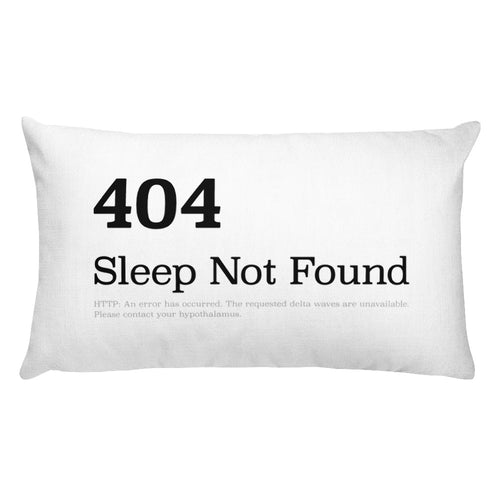 HTTP 404 Sleep Not Found pillow