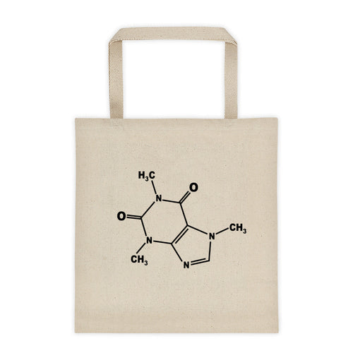 Caffeine Molecule - Double Sided Tote Bag