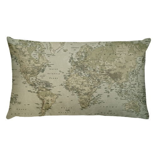 Map of Earth Pillow