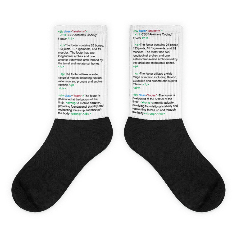 HTML Footer Code Socks