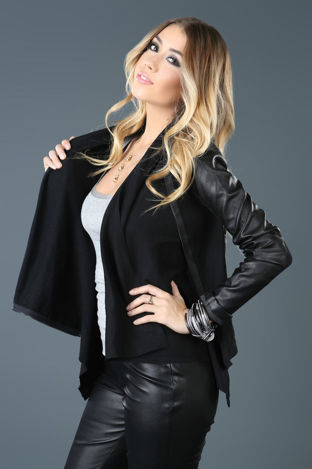 Sin City Faux Leather Jacket