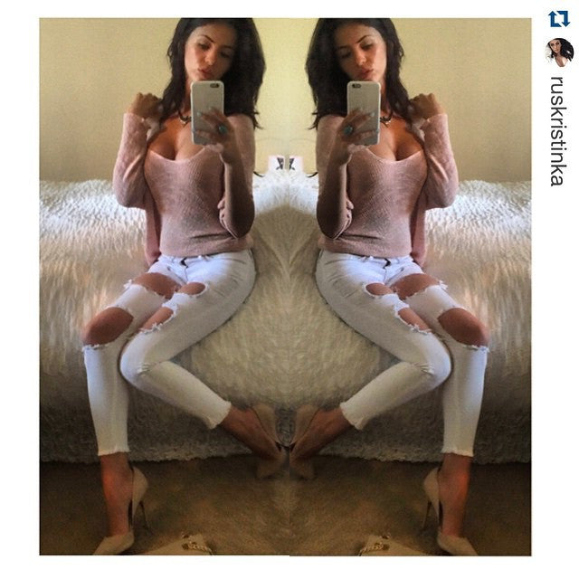 Summa White Cropped Skinny Jeans